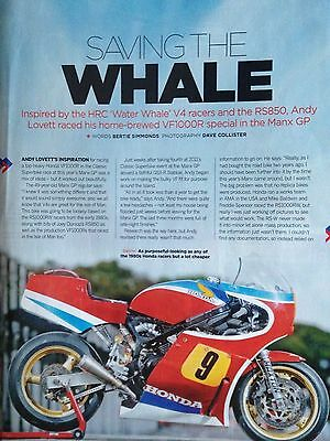 Honda Vf1000R Racer # 1986 Model # 4 Page Original Motorcycle Article