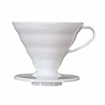 HARIO VD-02W V60 Coffee Dripper Clear 1-4 cups