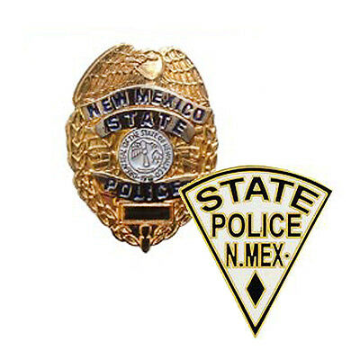 New Mexico State Police Badge & Patch Lapel Pins