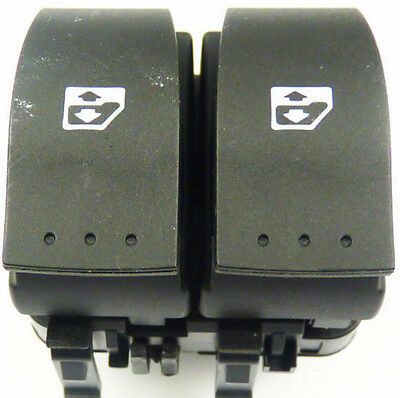 RENAULT CLIO II 2 ELECTRIC WINDOW CONTROL DOUBLE SWITCH BUTTON FRONT RIGHT (Fits