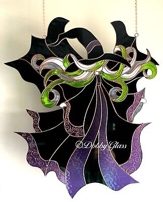 Stained Glass Panel - Witch - Handmade