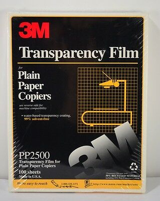 New Factory Sealed 3M TRANSPARENCY FILM PP 2500 100 Sheets