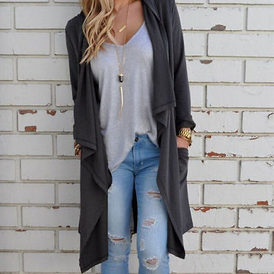 Fashion Women Long Sleeve Knitted Cardigan Loose Outwear Jacket Coat Sweater c