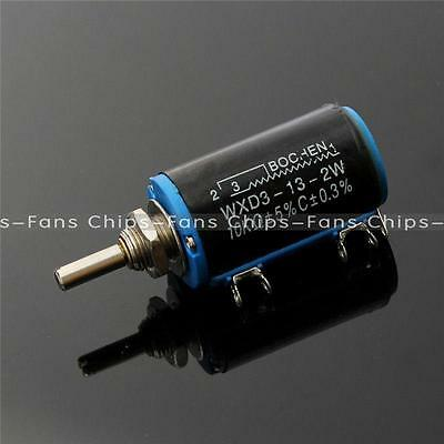 1PCS WXD3-13 2W 10K ohm Multi Turn Wire Wound Control Potentiometers NEW