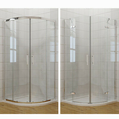 Quadrant Shower Enclosure and Tray Corner Entry Walk In Cubicle Frameless Hinge