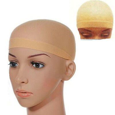 2pc Breathable Stocking Wig Unisex Liner Cap Snood Nylon Stretch Mesh Nude Color