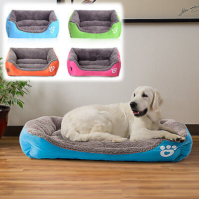 Dog Bed Sofa Kennel Medium Small Cat Pet Puppy Bed Cushion Soft Warm 4 Color
