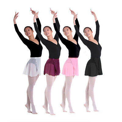 4 Colors Chiffon Girls Ballet Tutu Dance Skirt Women Skate Wrap Scarf Dance Wear