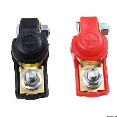 2Pcs Auto Car Replacement Battery Terminal Clamp Clips Connector Copper
