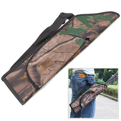 Portable Camo Archery Bow Arrow Belt Quiver Forest Hunting Bag Case NEW