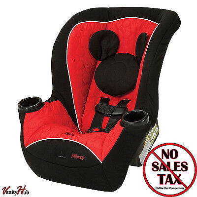 New Disney Mickey Mouse Infant Toddler Baby 2 Modes Convertible Car Seat Cute .