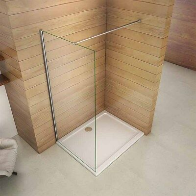 Walk In Wet Room Tall Shower Screen Panel Enclosure Cubicle 8mm NANO Clean Glass