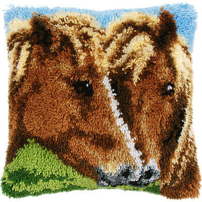 NEW Horses Latch Hook Cushion- Needlework