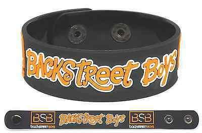 BACKSTREET BOYS Rubber Bracelet Wristband Millennium Black & Blue