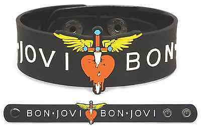BON JOVI Rubber Bracelet Wristband Slippery When Wet New Jersey