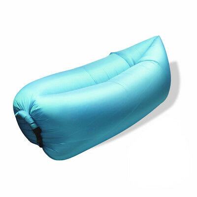 Fast Inflatable Air Sleeping Bag Camping Bed Beach Holiday Sofa Lounge Blue Gree