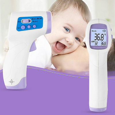 Non-contact Body Skin Infrared IR Digital Thermometer For Baby Kids Adult dint D