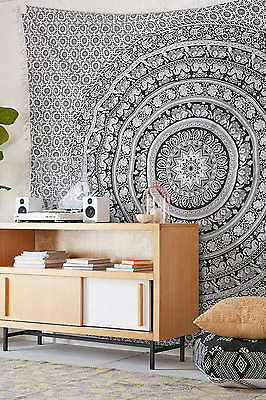 Indian Elephant Mandala Wall Hanging Tapestry Boho Bedspread Hippie Tapestries