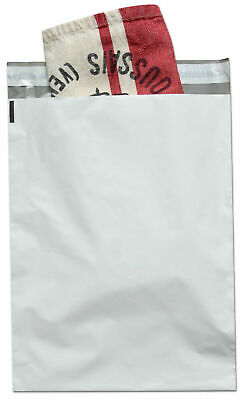 "Poly Mailers White Shipping Envelopes 12"" x 15"" Self Sealing 2 Mil Bags 1000 Pcs"