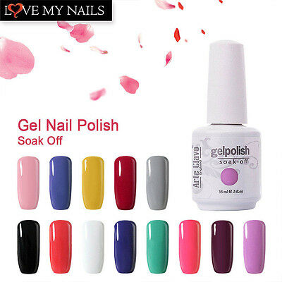 Fashion Color Arte Clavo Gelish Soak Off UV LED Gel Nail Polish Base Top Coat B