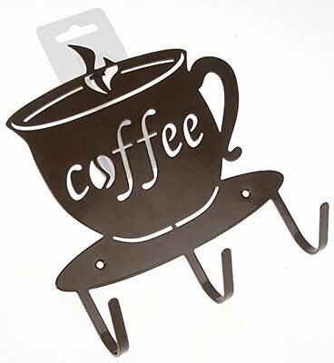 Coffee Cup Hardware Hook Cafe Decor Wall Hang Mount Garden Home Kitchen Office