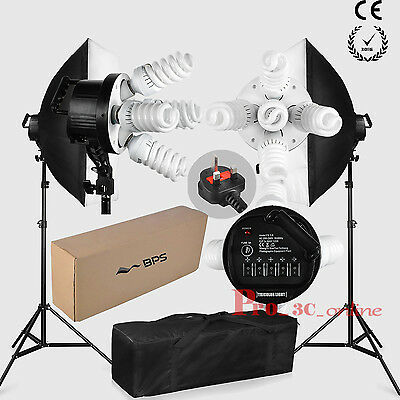1900W Photography Soft Box Continuous Lighting Kit Studio Softbox Stand Carrybag