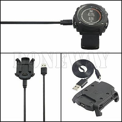 USB Charger Cradle Charging Dock Data Sync Cable For Garmin Fenix 3 HR New #ISR
