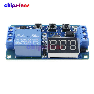 12V LED Display Delay Timer Control Switch Buzzer Module 2/3 Position +Case New