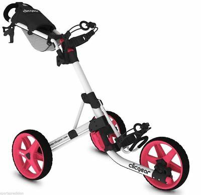 CLICGEAR 3.5+ Carro de Golf 3 ruedas, Golf trolley + 3 FREE GIFTS. 10 COLOURS