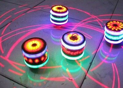 Funny Multi-Color Spinning Tops Toy Gyro With Music Laser Flash Light for Kids