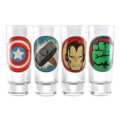 Marvel Comics - Avengers Character Shot Glass Set - New & Official In Box