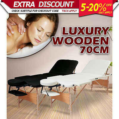 NEW RELAXPRO PORTABLE WOODEN MASSAGE BED FOLDING TABLE Beauty Therapy Treatment