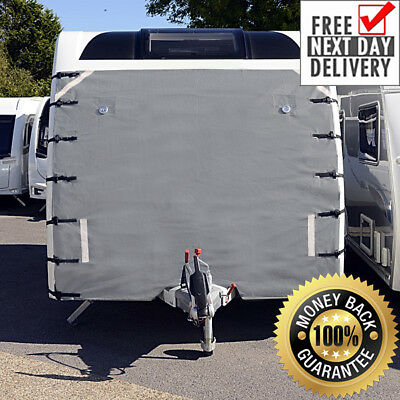 Caravan Front Towing Cover Chip Protection - Universal With Free Led Lights 004