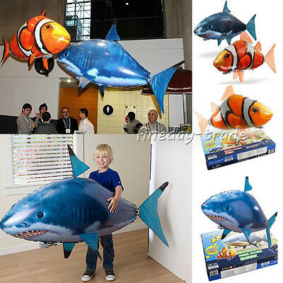 Air Swimmer Remote Control RC Flying Inflatable Fish Shark Blimp Balloon XmasTOY