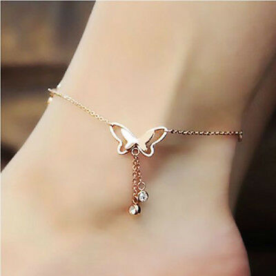 Fashion Women's Butterfly Chain Anklet Ankle Barefoot Sandal Beach Foot Jewelry