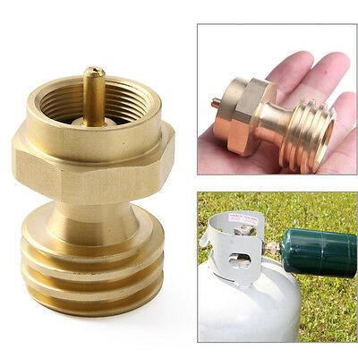 1PC Gas Cylinder Tank Coupler Propane Refill Adapter Heater Camping Outdoor BBQ
