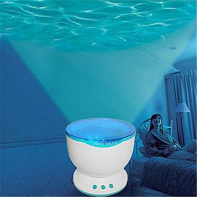 LED Calming Autism Sensory Light Projector Toy Relax Blue Night Music Projection