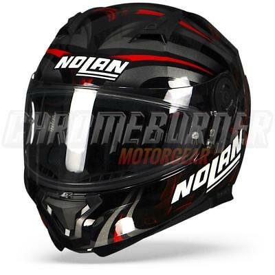 Nolan N87 Ledlight N-COM Black Red Gloss, Full-face Helmet, NEW!