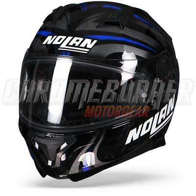 Nolan N87 Ledlight N-COM Black Blue Gloss, Full-face Helmet, NEW