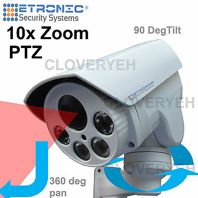 HD PTZ 10x zoom CCTV outdoor security camera AHD 1080p DAY NIGHT VISION IR