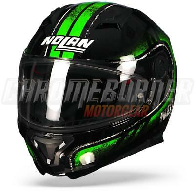 Nolan N87 Fulgor N-COM Metal Black Green, Full-face Helmet, NEW!
