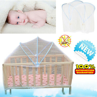 Baby Cradle Bed Canopy Tent Toddler Crib Cot Safe Mosquitos Net Netting Mesh NEW