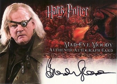 Harry Potter Goblet of Fire Brendan Gleeson / Mad-Eye Moody Auto Card