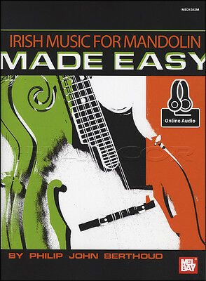 Irish Music for Mandolin Made Easy TAB Music Book with Audio Access