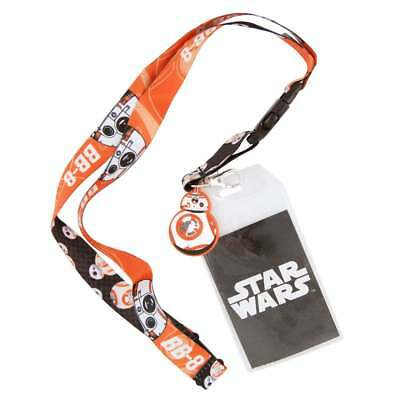 Star Wars BB8 Droid Lanyard with Charm and ID Sleeve NEW Comic Con Force