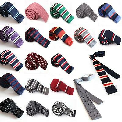 Men's Knitted Skinny Tie With 13 Designs