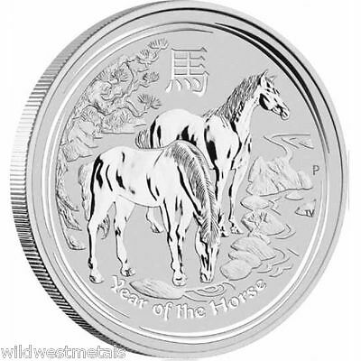 1 Oz Lunar Year Of The Horse - 2014 Silver Perth Mint Beauties *bu *
