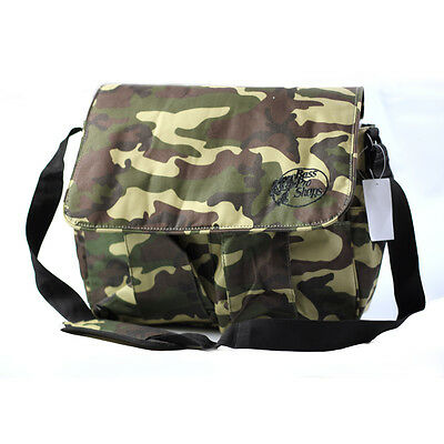 BassPro Camoflague Fishing Bag /Camo Shooting Bag Satchel. Includes pull out mat