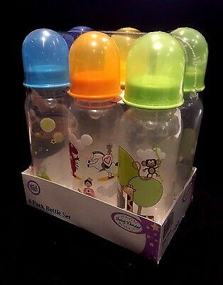 6 x Baby Wonder Feeding Nurser Baby Bottle  250 ml Assorted BPA Free