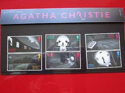 Agatha Christie Presentation Pack 6 STAMPS Royal Mail 2016 Whodunnit